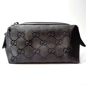 Gucci-  small cosmetic bag- GG monogram -black